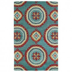 Kaleen Global Inspiration Teal 8 ft. x 10 ft. Area Rug-GLB09-91 8 X 10 - The Home Depot