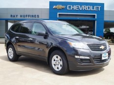 New 2017 Tungsten Metallic Chevrolet Traverse FWD LS For Sale in Plano, TX | 1GNKRFKD3HJ163076