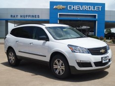 New 2017 Summit White Chevrolet Traverse FWD LS For Sale in Plano, TX | 1GNKRFKD7HJ119484