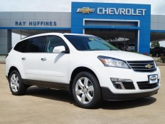 New 2017 Summit White Chevrolet Traverse FWD 1LT For Sale in Plano, TX | 1GNKRGKD6HJ156970