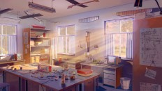 ArtStation - Summer camp backgrounds, Arseniy Chebynkin