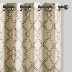 Mocha Brown Lattice Cotton Curtains Set of 2 | World Market