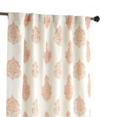 Rambagh Paisley Clay Curtain | Pier 1 Imports