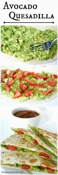Avocado Quesadillas (vegan) Recipe   Buzz Inspired