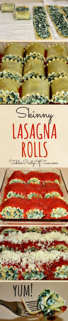 Skinny Lasagna Rolls Recipe | Buzz Inspired