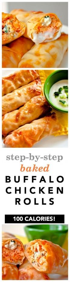 Baked Buffalo Chicken Rolls Recipe   Buzz Inspired