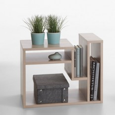 Fritz Side Table In Noble Beech With Storage 25238 Furniture