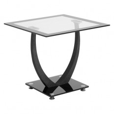 Carlson Lamp Table In Clear Glass Top 18505 Furniture IN Fas