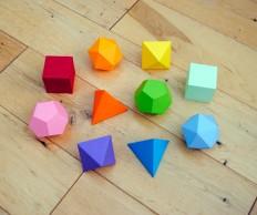 I ? mathematics {platonic solids garland}