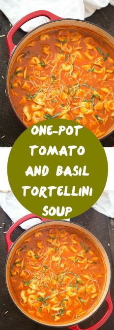 One-Pot Tomato and Basil Tortellini Soup Recipe | Buzz Inspired