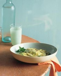 Mint Ravioli Stuffed with Goat Cheese - Martha Stewart Recipes