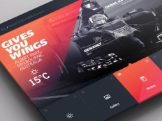 Weather Dashboard // F1 in DRIBBBLE SHOTS