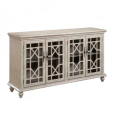 Ivory Four Door Media Credenza Coast To Coast Imports Corner Tv Cabinets Tv Stands & Cabi