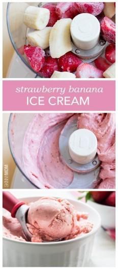 4-Ingredient Strawberry Banana Ice Cream Recipe | Buzz Inspired