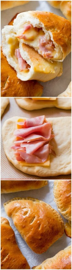 Homemade Ham & Cheese Pockets Recipe | Buzz Inspired