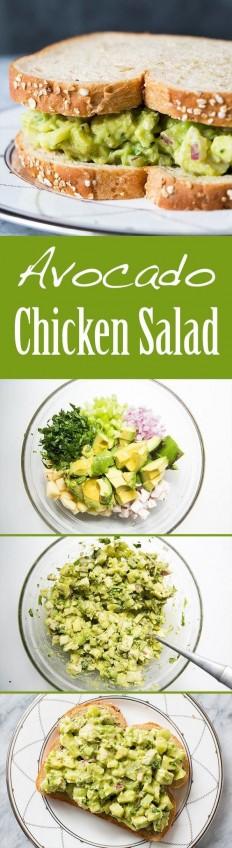 Avocado Chicken Salad Recipe | Buzz Inspired