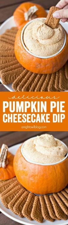 Pumpkin Pie Cheesecake Dip Recipe | Buzz Inspired