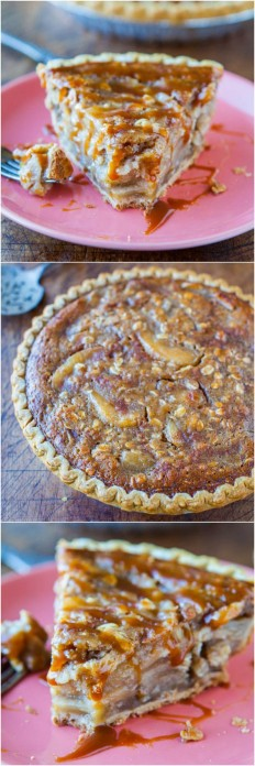 Caramel Apple Crumble Pie Recipe | Buzz Inspired