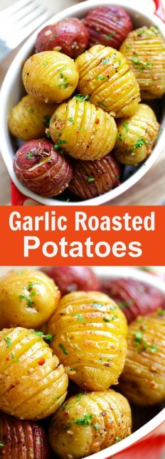 Garlic Roasted Potatoes Recipe | Buzz Inspired