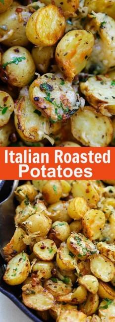 Italian Roasted Potatoes Recipe | Buzz Inspired