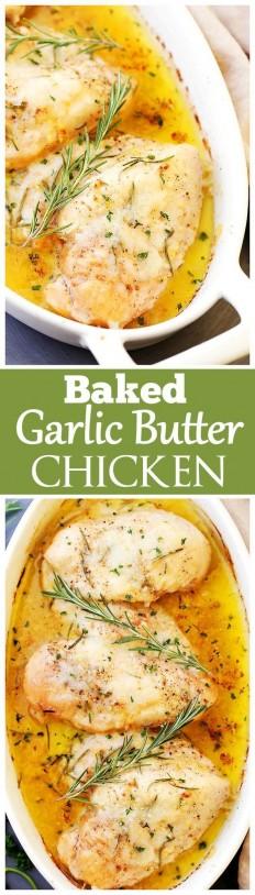 Baked Garlic Butter Chicken Recipe | Buzz Inspired