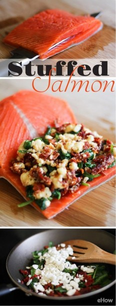 How to Cook Stuffed Salmon Recipe | Buzz Inspired