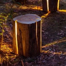 STUMP THE CRACKED LOG TABLE/STOOL in Furnitures & Light