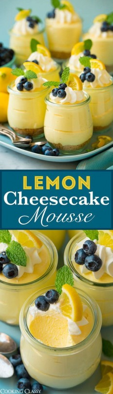 Lemon Cheesecake Mousse Recipe | Buzz Inspired