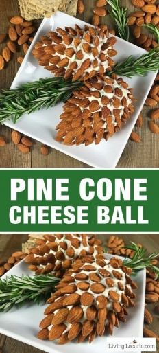 Pine Cone Cheese Ball with Almonds Recipe | Buzz Inspired