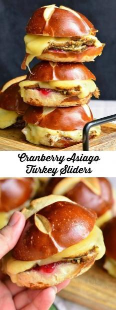 Cranberry Asiago Turkey Sliders Recipe | Buzz Inspired