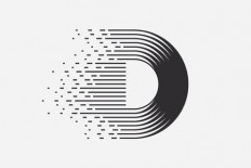 this logo has the letter D. It has something to do with music because it looks like sound waves. | A | Pinterest