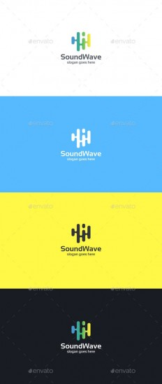 Sound Wave Logo Template - Abstract Logo Templates | LOGO - Abstract | Pinterest
