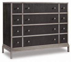 Hooker Furniture Living Room Melange Park Avenue Chest 638-85258-LTBK