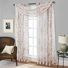 Willow Print Window Scarf Valance - www.BedBathandBeyond.com