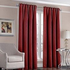 Designers' Select™ Satin Diamond Rod Pocket/Back Tab Window Curtain Panel - www.BedBathandBeyond.com