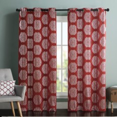 VCNY Mayra Metallic Light Filtering Curtain Panel & Reviews | Wayfair
