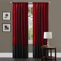 Lush Decor Prima Red/ Chocolate Curtain Panels (Set of 2) - 14524746 - Overstock.com Shopping - Great Deals on Lush Decor Curtains