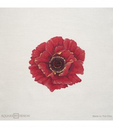 "Square By Design-Poppy 25"" Woven Square 