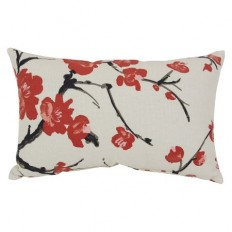 Flowering Branch Pillow - Beige/Red : Target