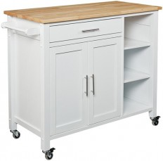 Mikayla Kitchen Cart - Butcher Block Kitchen Cart - Kitchen Island Cart - Rolling Kitchen Cart | HomeDecorators.com
