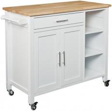 Mikayla Kitchen Cart - Butcher Block Kitchen Cart - Kitchen Island Cart - Rolling Kitchen Cart   HomeDecorators.com