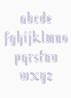 Ribbon Typeface on