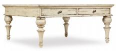 Hooker Furniture Living Room Auberose Square Cocktail Table 1595-80112-WH