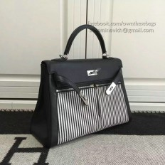 Hermes Kelly Lakis 32 Tote Bag Black HB1112