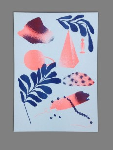 A3 Riso print 2 colors by MichelKeppel on Etsy | G R A P H I C D E S I G N | Pinterest