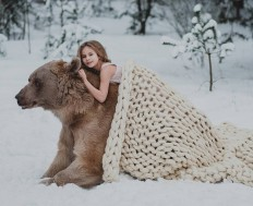Olga Barantseva Captures Dreamlike Scenes With a 700-Kilogram Bear