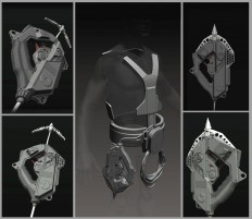 ArtStation - Motorized and stabilized climbing system, Timur Mutsaev