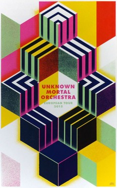 Unknown Mortal Orchestra European Tour 2015 Poster, Rainbow Posters