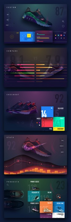 UI/UX design Concept Art on