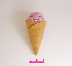 Scoopsie Strawberry, ice cream scoop Art Toy on